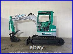 Komatsu PC38UU Excavator Diesel Rubber Tracks with Hydraulic Thumb