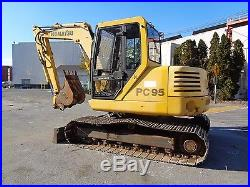 Komatsu PC95 Midi Excavator Backhoe Dozer Blade- Diesel Cab -Aux Hydraulics