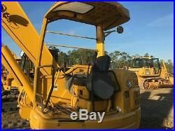 Komatsu Pc75uu Rubber Track Excavator New Tracks, 24 Bucket Offset Boom, Clean