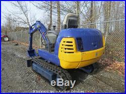 Kubota K022 Mini Excavator Rubber Tracks Backhoe Hydraulic 55 Blade 19 Bucket