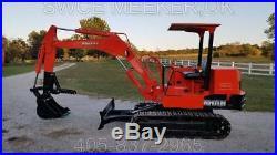 Kubota KH11H Mini Excavator Trackhoe Backhoe Dozer With Thumb only 1848 hours