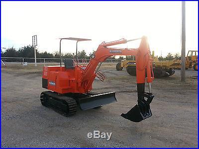 Kubota KH8H Mini Excavator Trackhoe Backhoe Dozer Kubota Diesel NO RESERVE