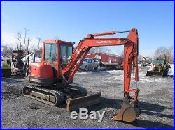 Kubota KX121-3 Mini Excavator With Cab & Angle Blade