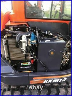 Kubota KX161-3 THUMB ENCLOSED CAB HEAT A/C TWO SPEED TRAVEL EXCAVATOR