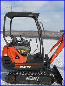 Kubota KX41-3v mini excavator, OROPS, Backfill Blade, Rubber tracks