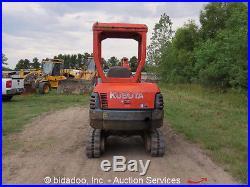 Kubota KX61-2 Mini Excavator Dozer Blade Auxiliary Hydraulics Track Hoe bidadoo