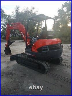 Kubota KX-121 Mini Excavator, Thumb, new Rubber Tracks and track rollers