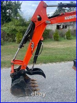 Kubota U35-4 Excavator Thumb Enclosed Angle Blade Two Speed SOLID