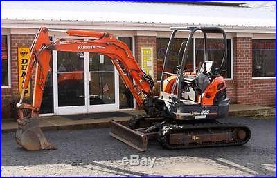 Kubota U35 Mini Excavator Trackhoe Backhoe