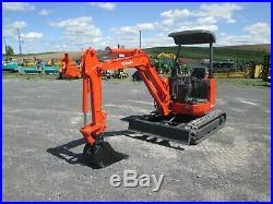 Kubota U-20-3a Mini Excavator Tractor Dozer Rubber Tracks Canopy Pilot Controls
