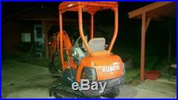 Kubota mini excavator 2001