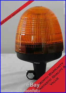 LED Amber Warning Beacon, Pole Mounted, Now With Free DIN Mounting Pole