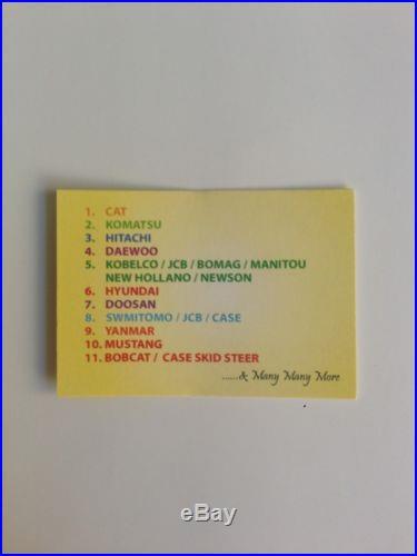 Master Key Set (11 keys) for Heavy Plant incl Caterpillar Komatsu Hitachi etc