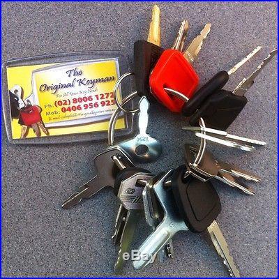 Master Key Set (16 keys) for Heavy Plant incl. Caterpillar, Komatsu and Hitachi