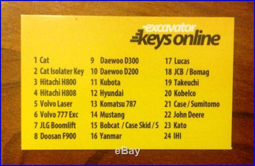 Master Key Set (24 keys) for Heavy Plant incl. Caterpillar, Komatsu and Hitachi