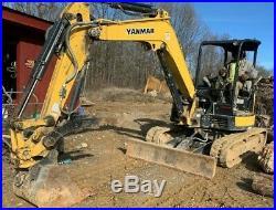 Mini Excavator with Hydraulic Thumb 2016 Yanmar VIO45 Zero Turn MiniLOW HOURS