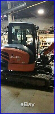 Mini excavator, kx-040-4, thumb, cab, 18 bucket