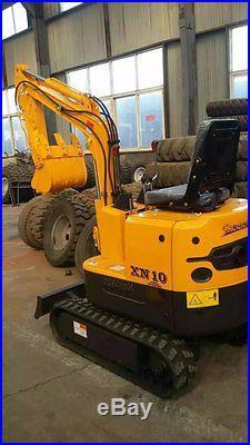 NEW 1 Ton MINI YH10 Hydraulic Crawler Excavator Bulldoz Shipped by Sea