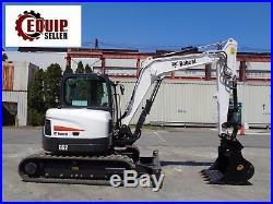 NEW 2017 Bobcat E62 Midi Excavator Loader Cab AC Quick Coupler Dozer Blade