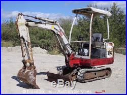 Takeuchi TB016 Mini Excavator Dozer Blade Rubber Tracks bidadoo