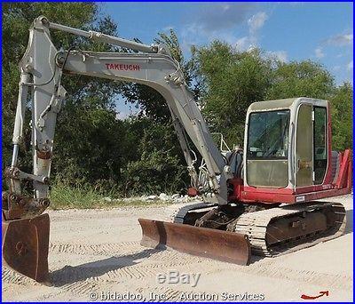 Takeuchi TB070 Hydraulic Excavator Dozer Blade Cab Aux Mini Midi bidadoo