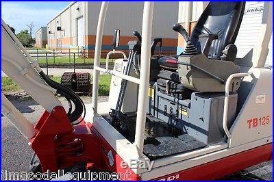 Takeuchi TB125 Excavator, Dig 9'5, New Tracks, Low Hours, Painted, We Ship $1.00Mile