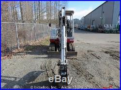Takeuchi TB125 Hydraulic Mini Excavator 3 Buckets Blade Yanmar Diesel bidadoo