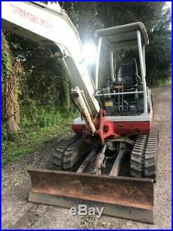 Takeuchi TB135 Mini Excavator 2 speed 100% ready to work 90% undercarriage