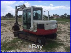 Takeuchi TB175 Midi Excavator, 17500 Lbs, FL Based, Thumb, AC Cab, All Original Paint