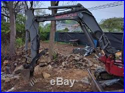 Takeuchi TB53FR mini excavator with breaker