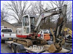 Takeuchi Tb135 Mini Rubber Track Excavator