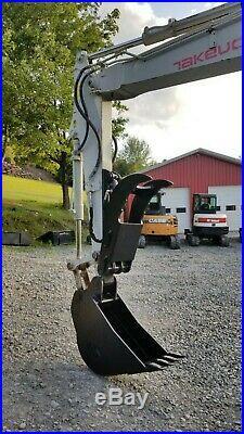 Takeuchi Tb180fr Excavator Enclosed Cab Hydraulic Thumb We Finance! Ready 2 Work