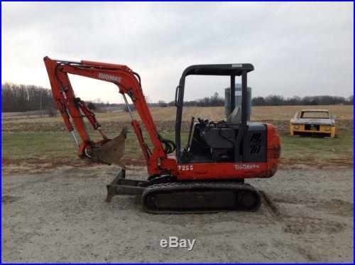 Thomas T25S mini ex excavator 2 buckets hydaulic thumb diesel