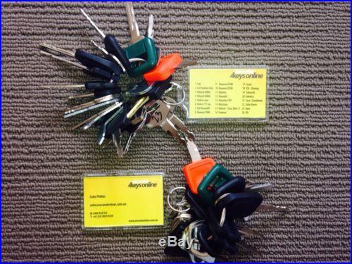 Two Sets of Master Key Set (24 keys) for Heavy Plant Excavators Dozers etc