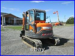 USED Doosan DX60R Excavator Diesel Cab Heat A/C 3rd Valves