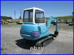 Used Komatsu PC20-7 Excavator Diesel Cab Heat Rubber Tracks Pilot Controls