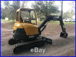 Volvo ECR38 Mini Excavator Aux Hyd Dozer Blade Quick attach 2 spd Ready to work