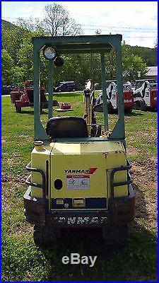 Yanmar B17 Mini Excavator Diesel 18 Bucket 3,000LB Machine Runs Great Low Hours
