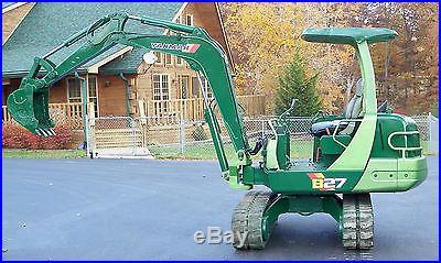 Yanmar B27-2A Mini Excavator Approximately 6000# 22HP Yanmar Diesel 18 Bucket