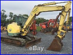 Yanmar VIO75 Midi Excavator With Cab & Hydraulic Thumb