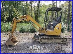 Yanmar Vio27 mini excavator 6500lb 10' dig depth 2700hrs runs great! 2 buckets