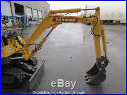 Yanmar YB-15 Hydraulic Mini Excavator Rubber Tracks 38 Blade 15 Bucket Diesel